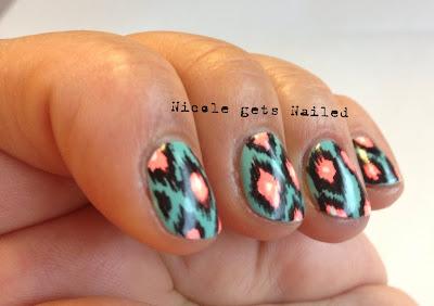 Ikat Nail Art