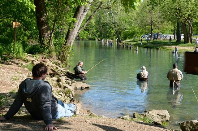 Weaver 39 s tackle store bennett spring fishing report 4 26 2012 for Bennett springs trout fishing