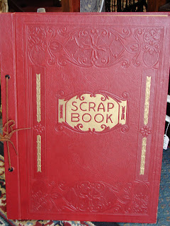 vintage red scrapbook