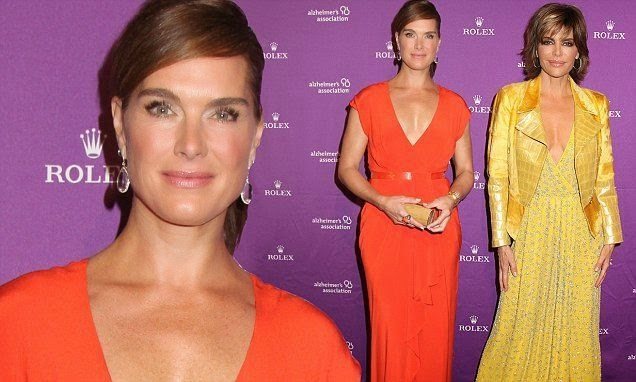 Always wonderful for many times, Brooke Shields exactly know about how to balancing the consistent as she showed off her slim shape in a red long dress. The 49-year-old revealed her beauty into the 31st annual Rita Hayworth Gala at New York, USA on Tuesday, October 21, 2014.