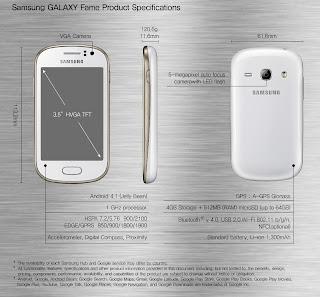 Harga terbaru dan spesifikasi dari Samsung Galaxy Fame