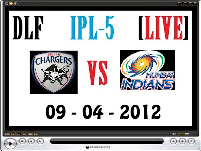 Deccan Chargers vs Mumbai Indians Live