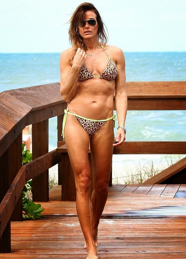 Kelly Bensimon wears a Tiger Bikini at Miami on Sunday,‭ ‬April‭ ‬20,‭ ‬2014