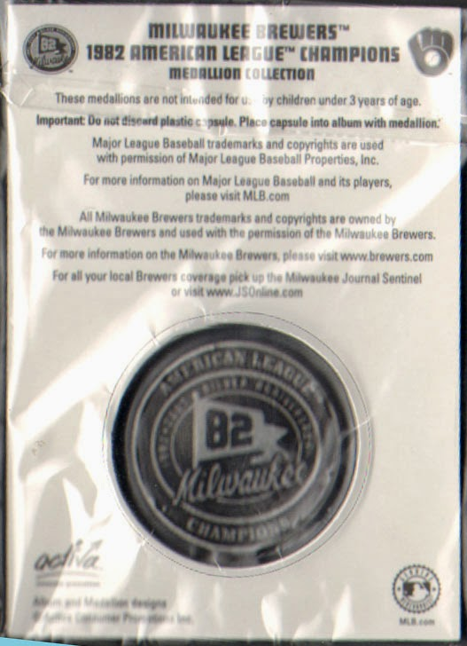 the yount collector  2007 milwaukee journal sentinel 1982 commemorative medallion