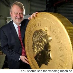 Koin emas terbesar di dunia