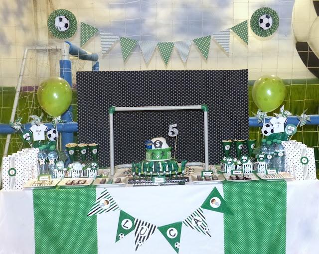 Mesa dulce futbol cumpleaños