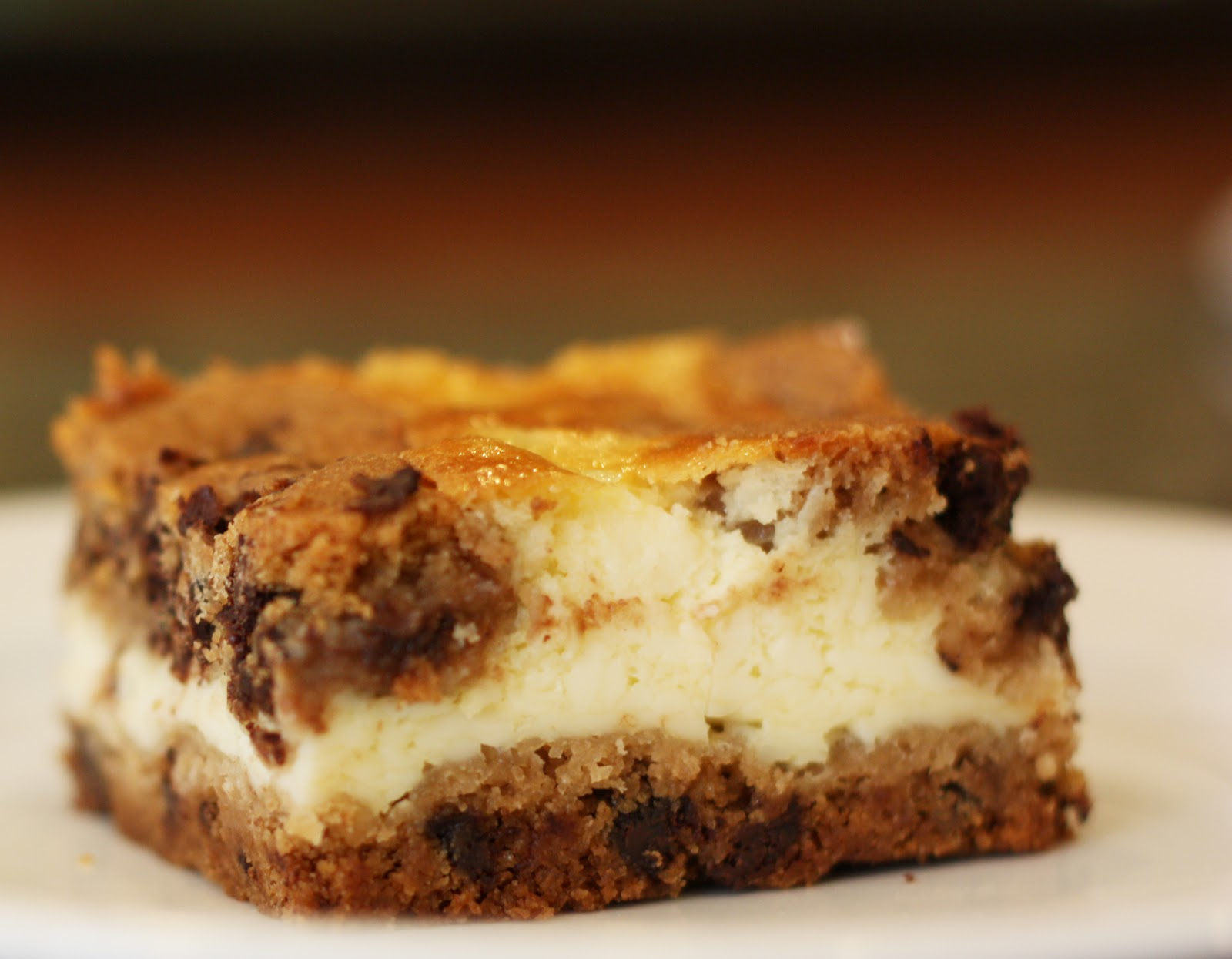 Chocolate Chip Cheesecake Bars - Sew Much Ado