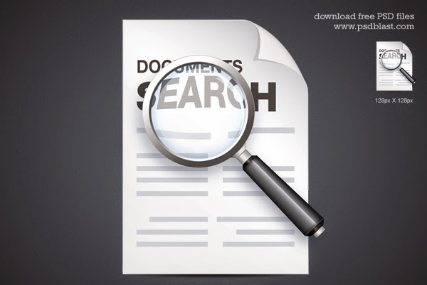 Documents Search Icon PSD