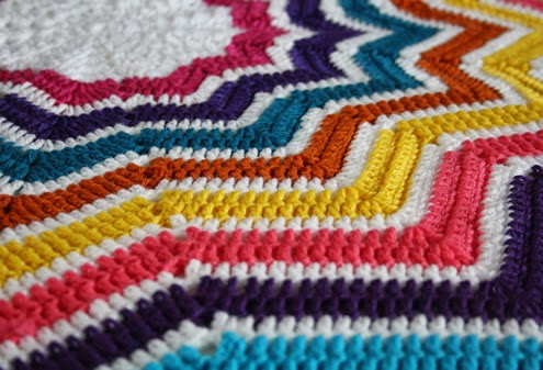 Ripple stitch, star shaped blanket