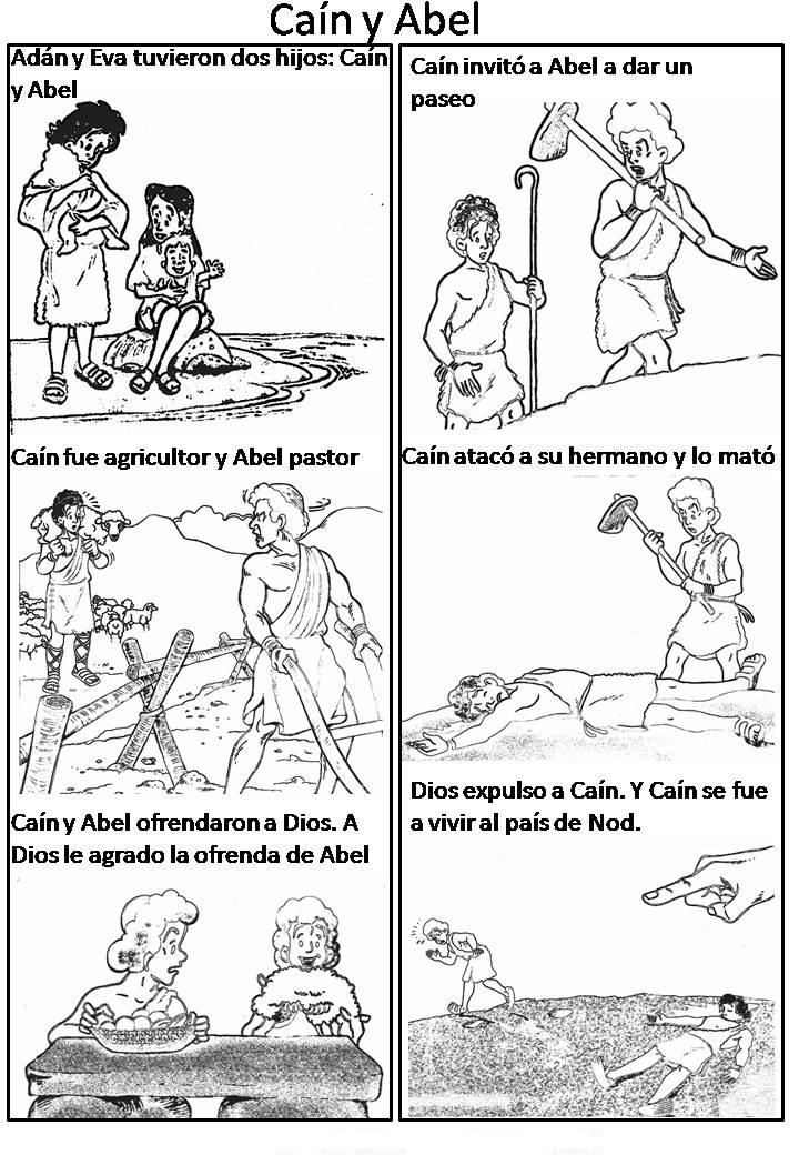 Historia de Cain y Abel para colorear / Dibujos Cristianos para ...