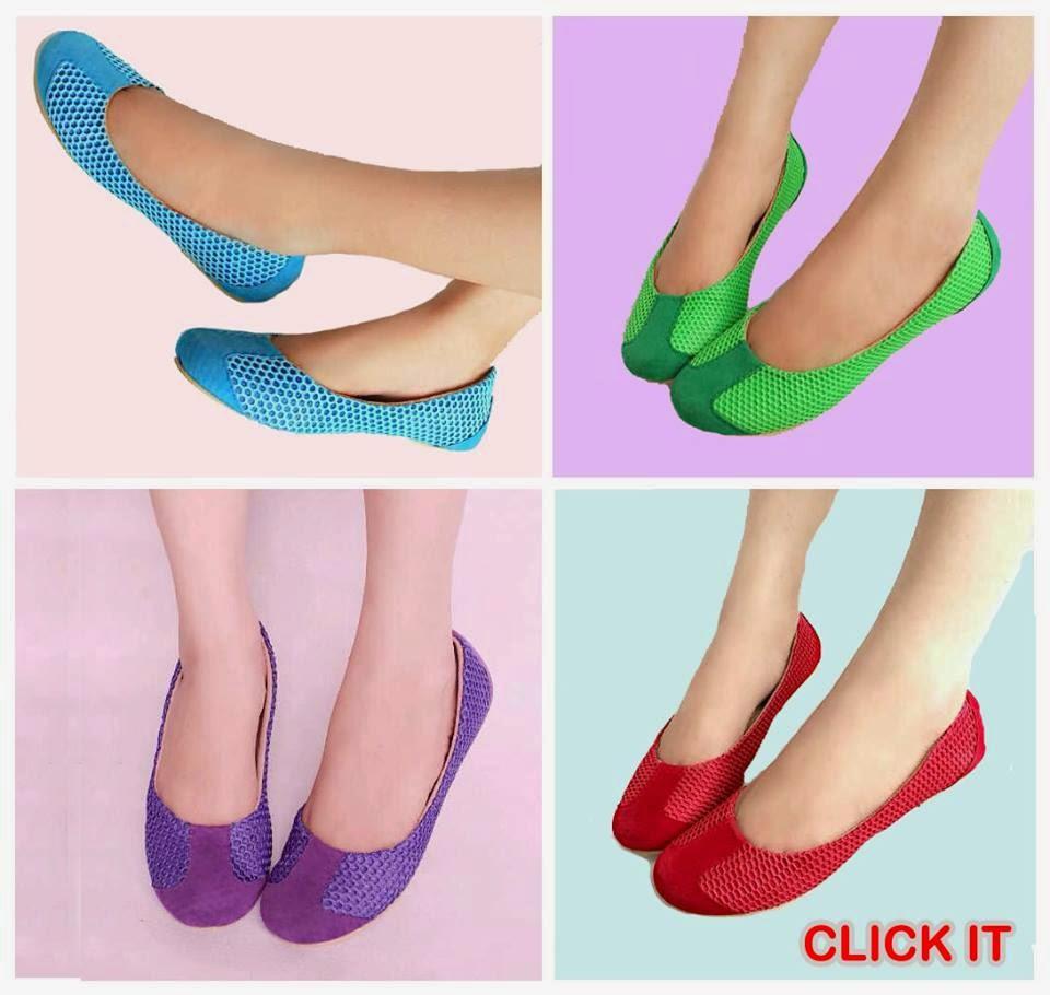Sepatu Cewek Flat Sepatu Cewek Flat Rainbow Shoes