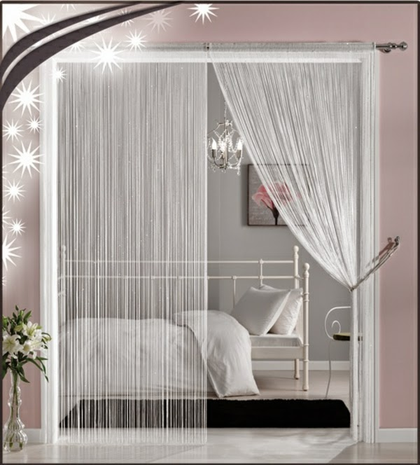 Room Divider Curtain Ideas Part - 22: Room Divider Curtains: Transparent Curtain As Imposing Room Divider