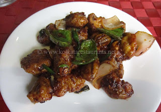 Chilli Mushrooms at Mango People Golpark Kolkata