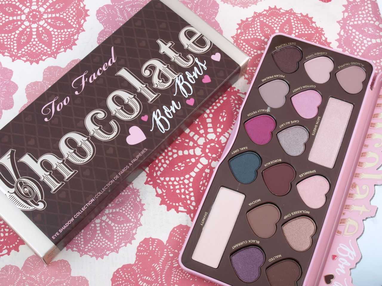Too Faced Chocolate Bon Bons Eyeshadow Palette: Review and ...
