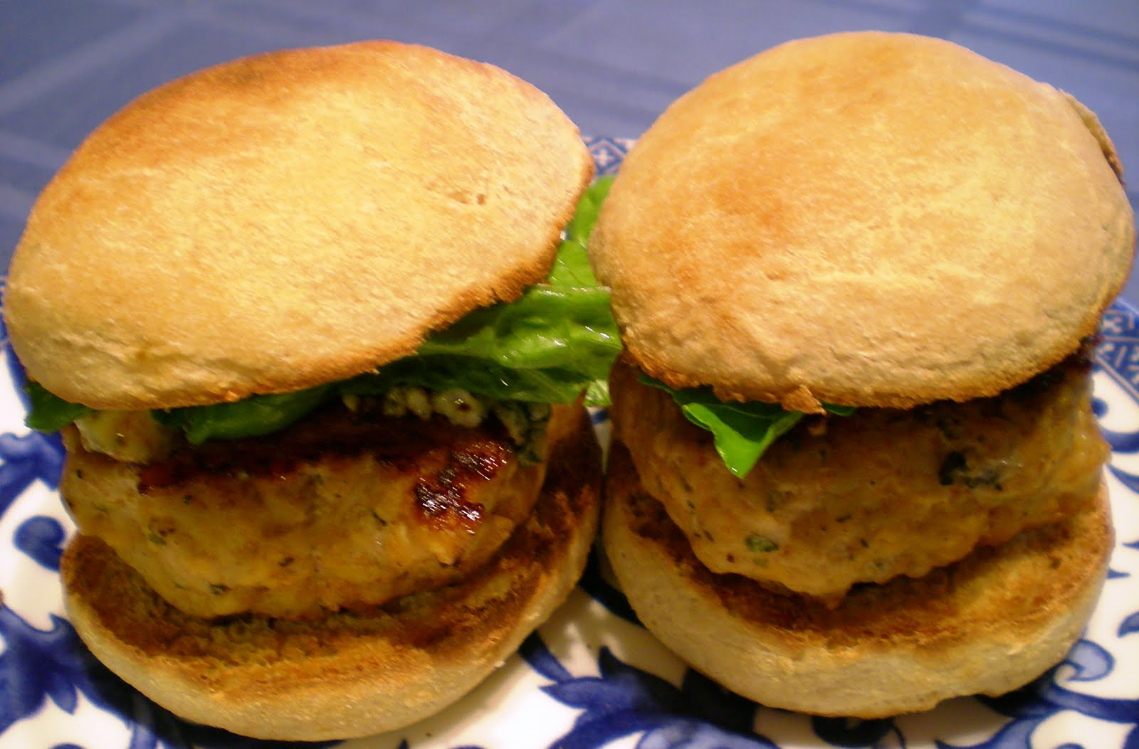 Buffalo Chicken Burgers ~ From Anne's Kitchen