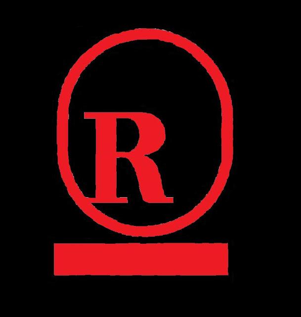 Red R logo black