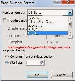 Cara memasukkan nomor halaman yang berbeda di Word, Menggabungkan dua format nomor halaman pada Ms. Word