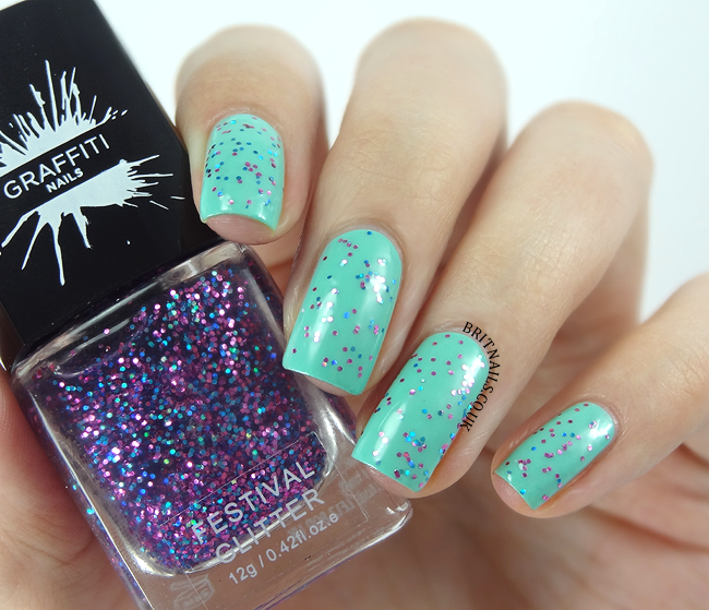 Graffiti Nails Festival Glitter