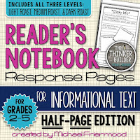 https://www.teacherspayteachers.com/Product/Gr-2-5-Readers-Notebook-Response-Pages-for-Informational-Text-HALF-PAGE-SET-1045191