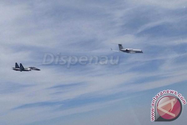 Pesawat Sukhoi TNI AU Kembali Usir Pesawat Asing di Kepulauan Natuna