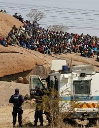 Lonmin mine, Marikana South Africa.