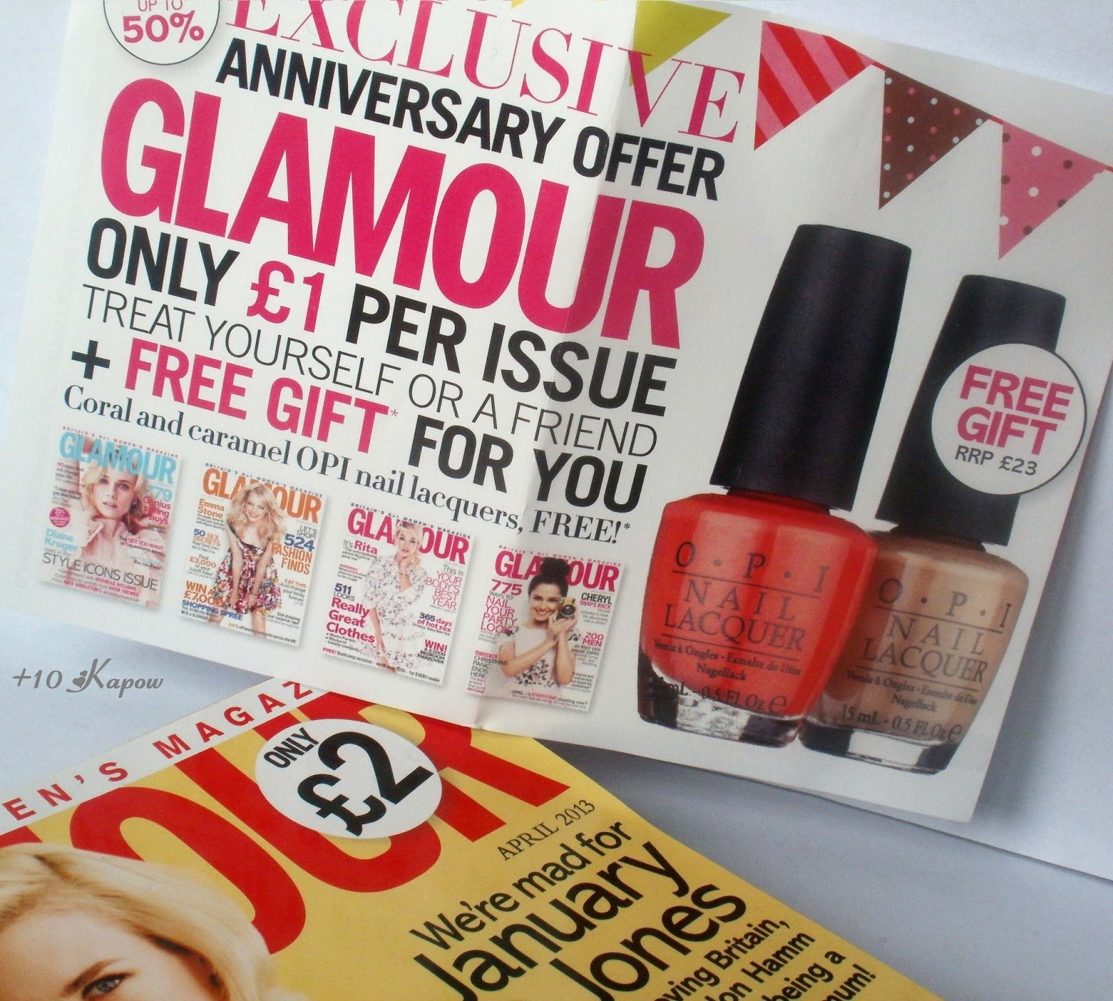 Plus10Kapow: My First Ever OPI\'s and Glamour Mag Offer