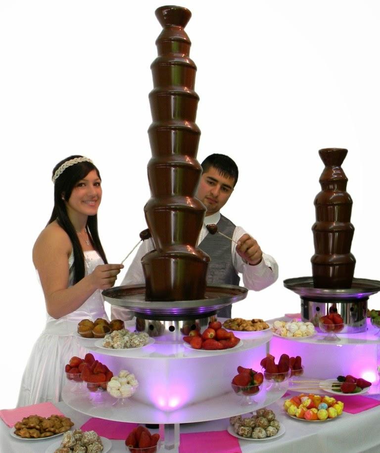 royal cascada de chocolate funcionamiento