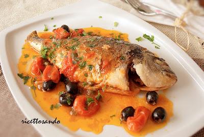 Pesce all'acquapazza ricetta tradizionale di pesce