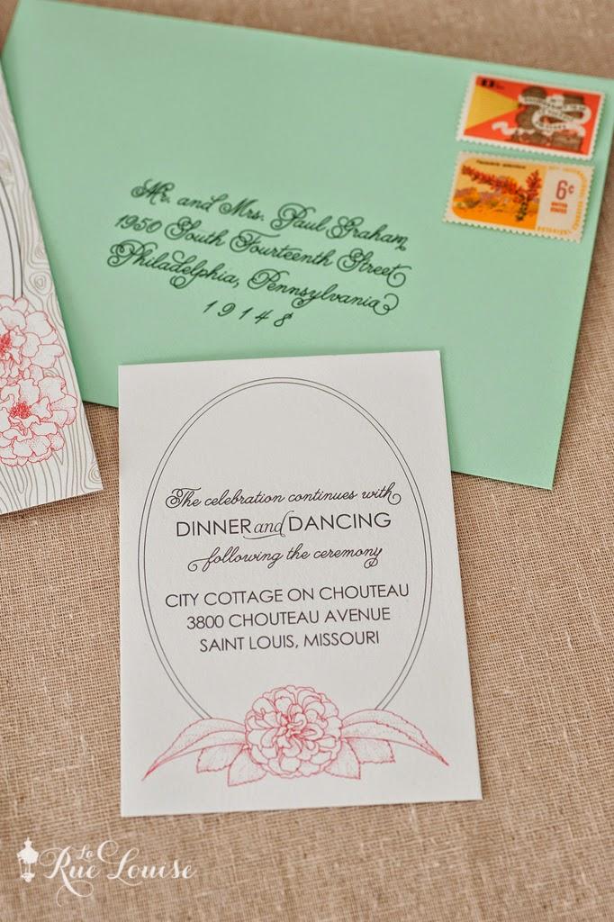 Wood Grain And Roses Wedding Invitation Reception Card