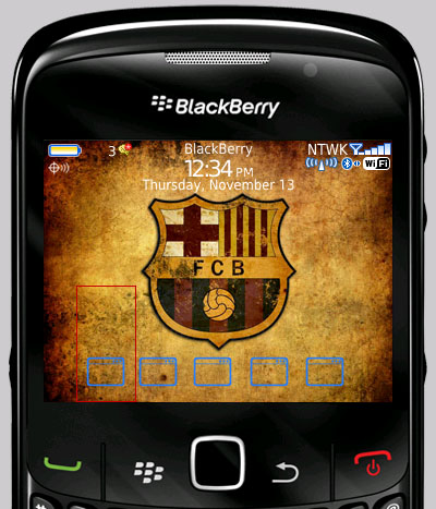 Free Barcelona Iconset Themes Blackberry Curve Ota Zip