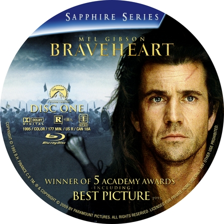 Braveheart Dvd Disc Label Art
