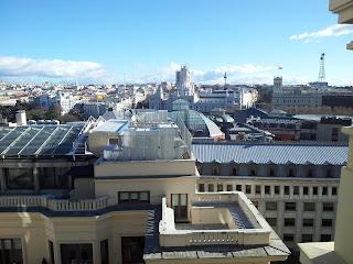 Vistas de Madrid desde el cícrculo de Bellas Artes