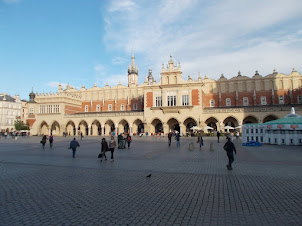 """Historic """"Cloth Market"""" in Krakow Old Market town Square."""