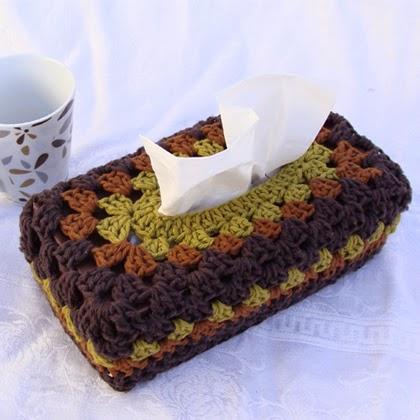 Crochet A Chunky Granny Tissue Box Cover!