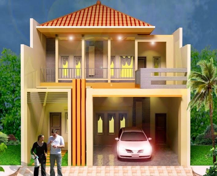 tren kombinasi warna cat rumah minimalis tampak depan 2015