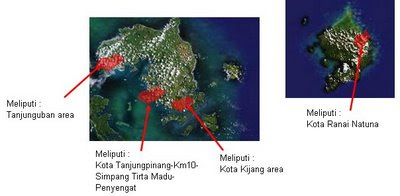Area layanan Telkom Kancatel Tanjungpinang