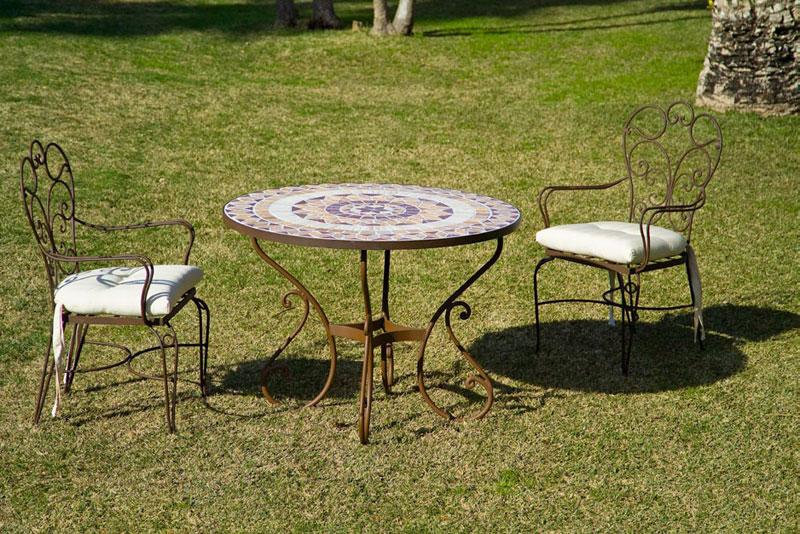 Muebles de forja muebles de forja para terraza for Mesas y sillas de jardin economicas