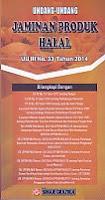 toko buku rahma: buku UNDANG-UNDANG JAMINAN PRODUK HALAL UU RI NO. 33 TAHUN 2014, penerbit sinar grafika