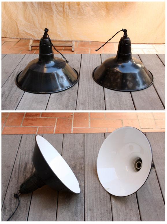 Antic beauty lampara industrial de techo esmaltada - Lamparas industriales de techo ...