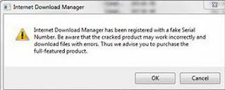 IDM Fake Serial Key Problem