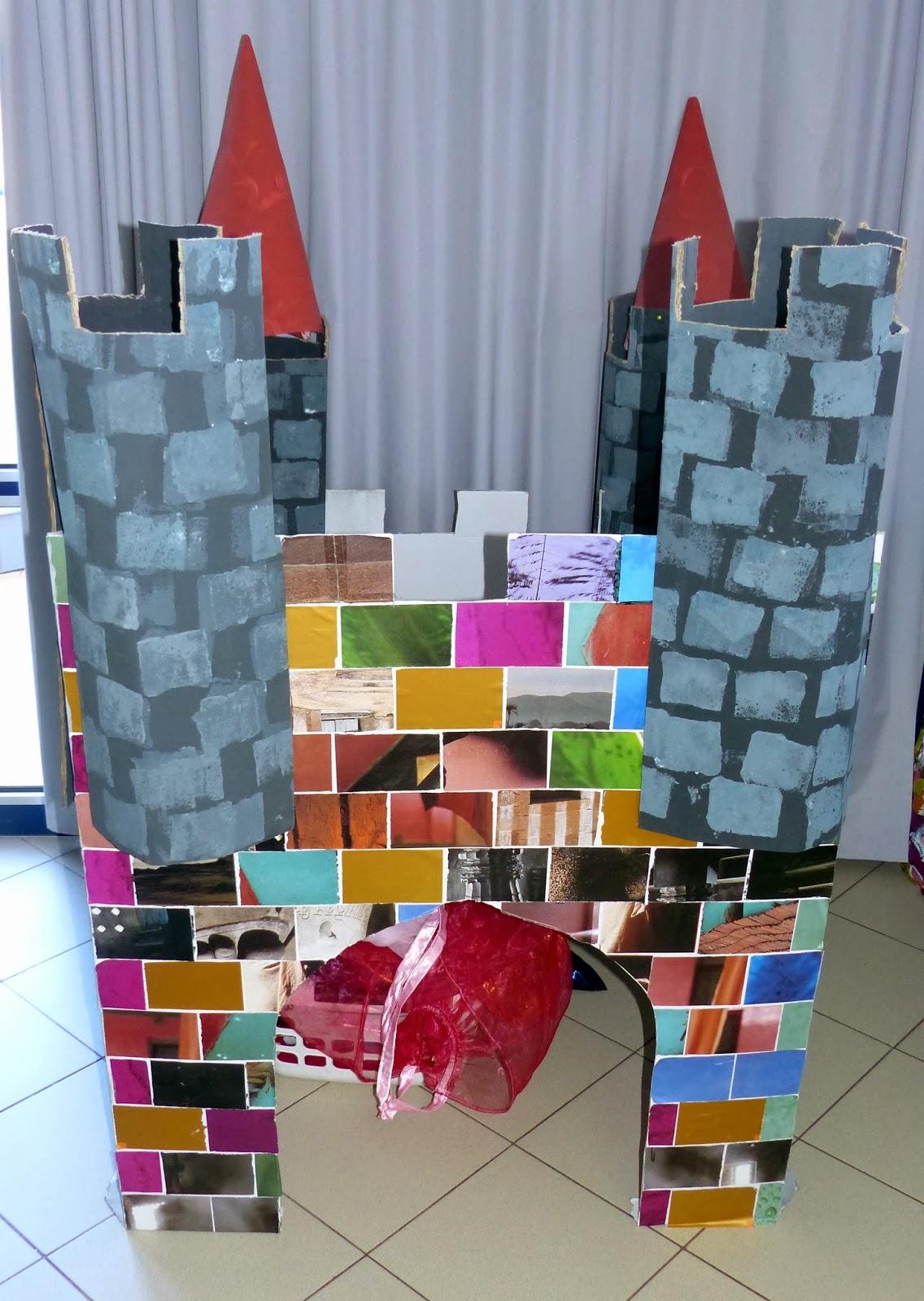 Châteaux carton, peinture et vitrail en GS