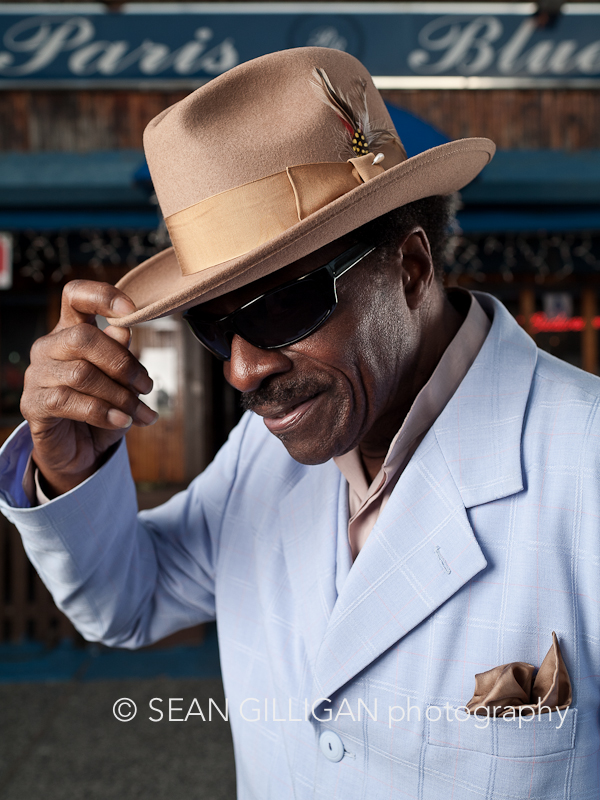 MG 1902 Edit layers Mr. Blues! Samuel Hargress Jr. is the owner of Paris Blues bar in Harlem, New York.