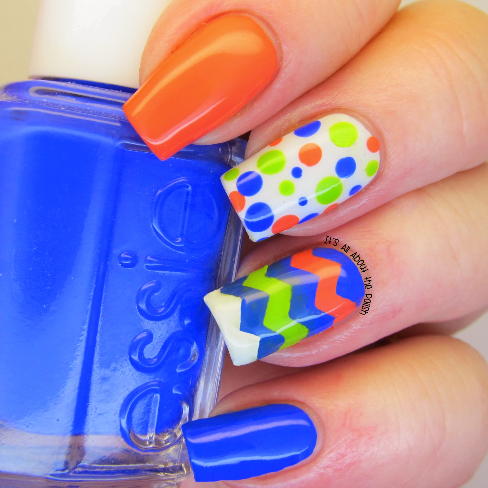 Its All About The Polish Bright And Quirky Nail Design Dots And