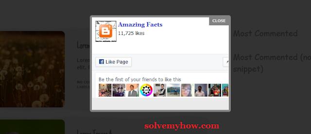 facebook popup like box widget