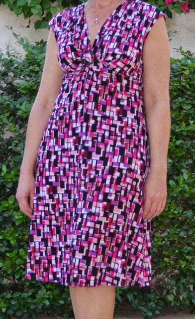 Splatter Knot-Front Empire Dress from Kohls