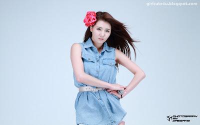 17 Han-Ga-Eun-Denim-Shirt-01-very cute asian girl-girlcute4u.blogspot.com