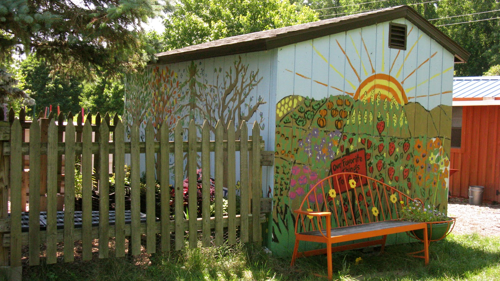 Ithaca Children\'s Garden.   Tom The Backroads Traveller