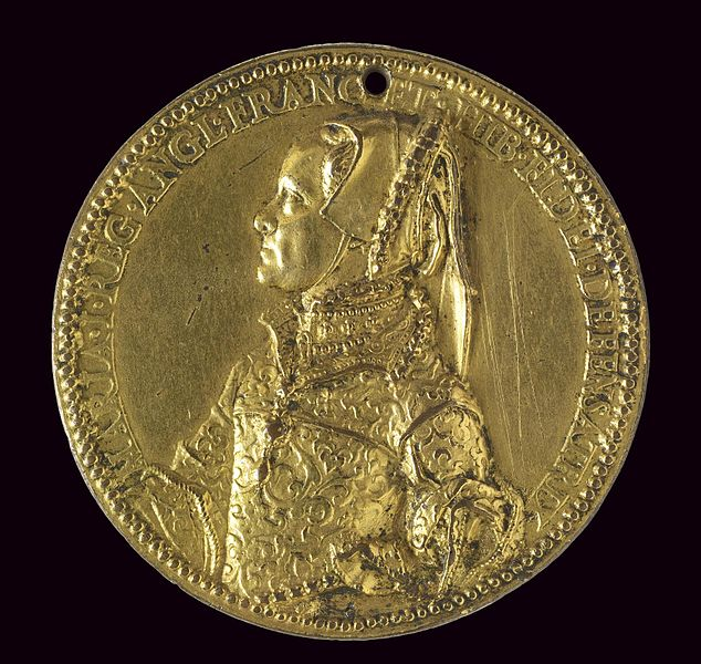 Medalje - Page 2 634px-Jacopo_da_Trezzo_-_Medal_of_Queen_Mary_Tudor_as_Wife_of_King_Philip_II_-c+1555