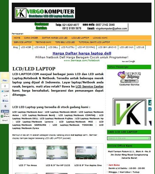 Tempat cari lcd laptop murah