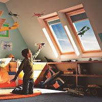 Okno dachowe Velux w pokoju dziecka